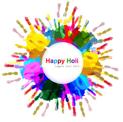 Beautiful indian holi colorful card celebration background illus