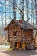 Wooden house fairy grandmother Yaga