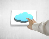 Pushing cloud shape button