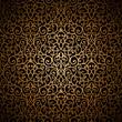 Vintage gold seamless arabesque pattern
