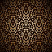 Arabeska bez szwu rocznika wzór złoto