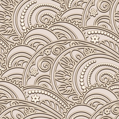 Vintage seamless pattern in beige color