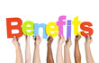 Multi Ethnic People Holding The Word Benefits - 62394379