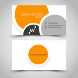 business card with rings