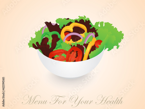 Isolated Vegetables Salad Bowl