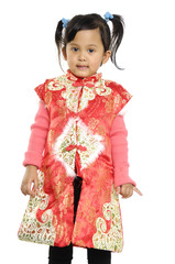 Adorable Chinese little girl-prosperous Chinese New year!