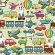 cartoon transport pattern - 62394905