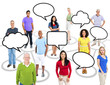 Diverse Group of People with Blank Speech Bubble