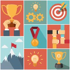 achieving goal success concept