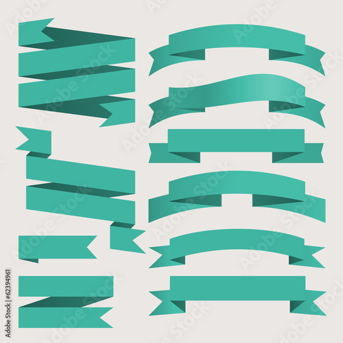 vector ribbons set vintage style