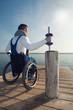 Rollstuhlfahrer beim Kraftsport
