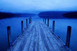 Tranquil Peaceful Lake with Blue Jetty