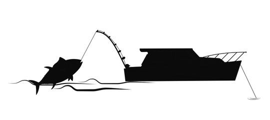tuna fishing silhouette