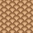 Fish scales  brown  Seamless Pattern