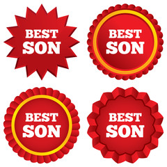 Best son sign icon. Award symbol.