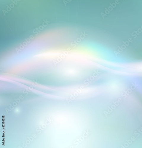 Vector sun on a soft blue background