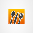 Kitchenware icon web fork knife spoon