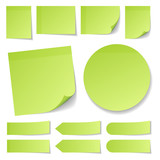 Green Stick Notes Collection Round