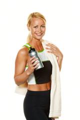 Sportliche Frau beim Workout