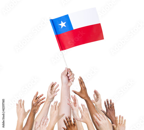 World Human Hands Holding Chilean Flag