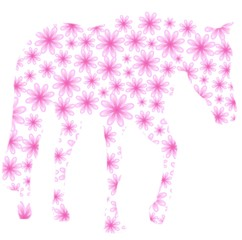 Horse of flowers