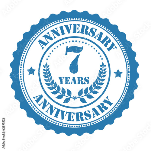 7 years anniversary stamp
