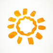 Vector Illustration of an Abstract Summer Sun