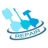 emblem for repair service vector silhouette