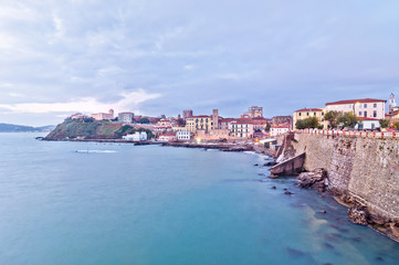 long exposure of Piombino town in Tuscany, Italy