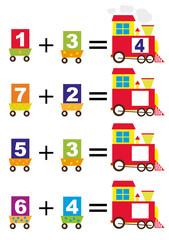 mathematical train for kids (adding)