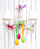 Easter or spring home interior decorations - chandelier