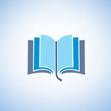 Fototapety book isolated vector symbol