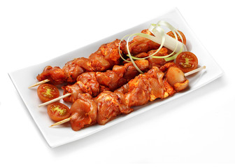 marinated chicken kebab