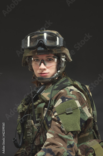 NATO soldier in full gear.