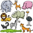 Постер, плакат: Vector illustration of Wild animals cartoons