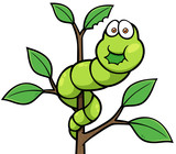Vector illustration of Cartoon worm