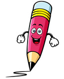 Vector illustration of Cartoon pencil