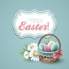 Easter greeting vector illustration