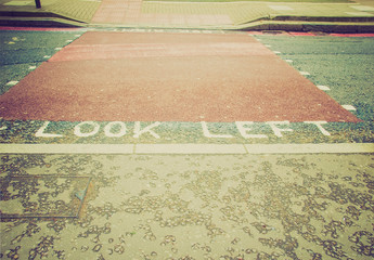 Retro look Look Left sign