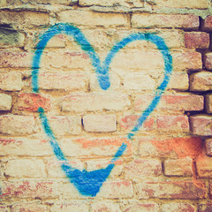 Retro look Heart symbol of love