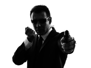 secret service security bodyguard agent man silhouette