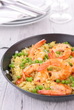 shrimp, rice and pea