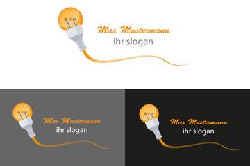 Elektro Elektriker Kabel Stecker Steckdose Logo