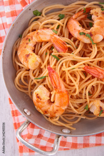 pasta and shrimp