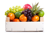fresh fruits in a box