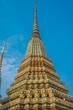 colorful chedi Wat Pho temple bangkok thailand