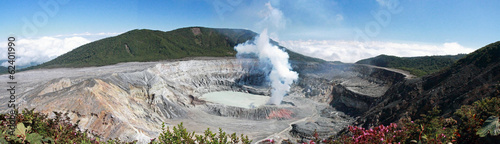 Tuinposter Vulkaan COSTA RICA Volcan Poas