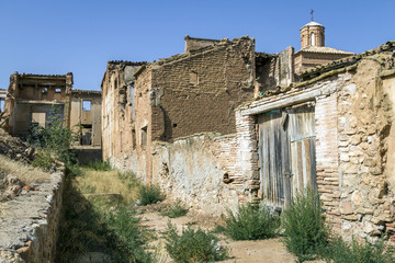 Belchite village destroyed in a bombing  Spanish Civil War