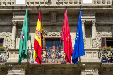 Town hall of Pamplona, Navarra, SPAIN.