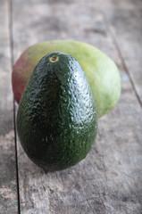 Avocado Still Life on Wood